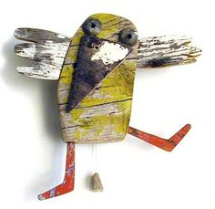 recycled toys for adults? Recycled Toys, Recycled Art, Wood Sculpture, Sculptures, Junk Art, Assemblage Art, Driftwood Art, Bird Art, Altered Art