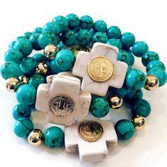 Bracelets By Vila Veloni Beautiful Cross And Coin