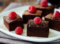 These decadent chocolate raspberry brownies are gluten free and grain free, and have no added refined sugar. This is a guest recipe from one of the Happy Body Formula program expertsLarina Robinson,a wholefood dietitian from