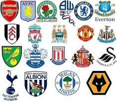 English Premier League Team Badges 2011/2012 Season
