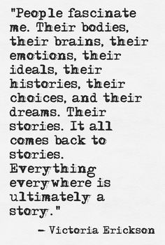 This is so true for me.l love people.