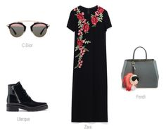 THE DRESS 1 by ireneconcello on Polyvore featuring Fendi, Christian Dior and Uterqüe