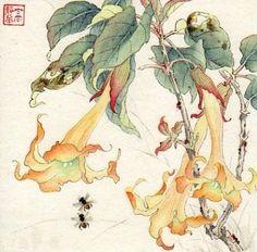 """Over the Western Hills"" - Original Fine Art for Sale - © Jinghua Gao Dalia"