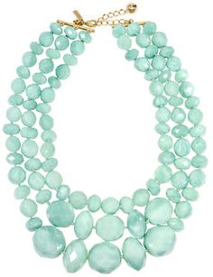 Kate Spade accessories Sea Green Swirl Triple Row Necklace