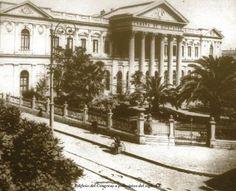 Edificio del Senado de la República de Chile 1890 Chile, Street View, 19th Century, Monuments, Buildings, Military, Chili, Chilis