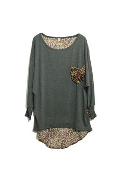 Retro Leopard Grey T-shirt - Even thought I'm not really into animal prints. This shirt isn't very loud. And has vintage/feminine feel...