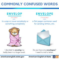 Commonly confused words: Envelop vs Envelope