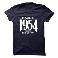 Made in 1954 - Aged to Perfection - Tshirt & Hoodie - #hoodie for girls #big sweater. GET IT => https://www.sunfrog.com/LifeStyle/Made-in-1954--Aged-to-Perfection--Tshirt-Hoodie.html?68278