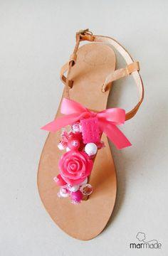 #sandals #summer #neon #love #marmade #rose #beads