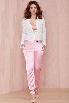 Karla Spetic Iridescence Silk Trouser