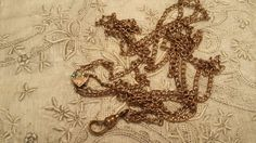 LOVELY Lady's Watch Chain w/ Slide ANTIQUE by ceiltiques on Etsy