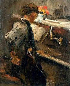 ♪ The Musical Arts ♪ music musician paintings - Edouard Vuillard | Dame au piano huile sur panneau - Pinterest                                                                                                                                                     Más