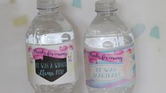 Custom party water bottles | unicorn party | llama baby kids | kitty cat birthday | personalized waterproof labels | favors sets | SET OF 10 by TheShindyCo on Etsy