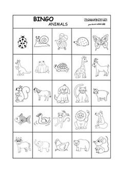 Bingo - animals - Aktivity pre deti, pracovné listy, online testy a iné Bingo, Teaching Aids, Early Childhood Education, English, Words, Animals, Early Education, Animales, Animaux