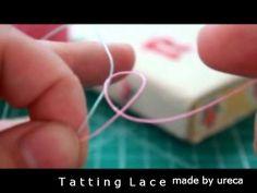 [tatting lace]태팅레이스 더블스티치 기초 - YouTube