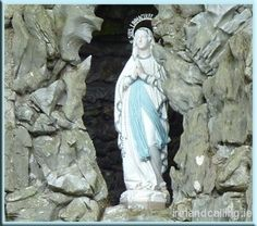 Virgin Mary in a grotto on the road out of Killarney. Statues like this can be seen all over Ireland.