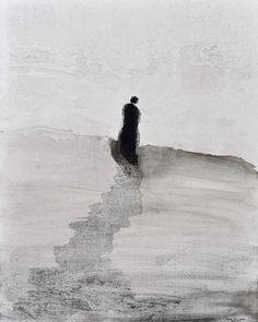 "contemporary-art-blog: ""Gao Xingjian, Observateur, 2015 Galeria Senda Barcelona """