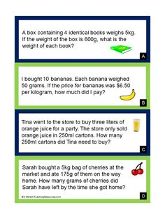 4.MD.1 FREE 4th Grade Measurement Conversion Word Problems + lots more CCSS resources