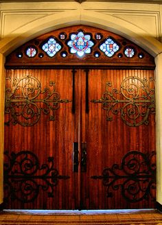 awesome door and ironwork