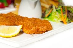 Cutlets of Veal, Chicken, Pork or Turkey Veal Milanese, Chefs, Veal Cutlet, Cutlets Recipes, Carnivore, Fish And Meat, Le Chef, C'est Bon, Cornbread