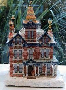 Red Brick Gingerbread House This classical three-story brick home, with its colorful chimneys and columned porch, is typical durable New Eng...