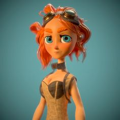 my first demoreel piece at gnomon. concept by : Lissy Marlin Character Creation, 3d Character, Cg Artist, 3d Artwork, Steampunk, Princess Zelda, Concept, Hand Painted, Flooring