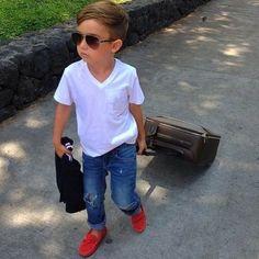 Boys fashion/kid fashion- ha, this kid looks like an adult!