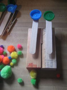 diy mini catapults! but now the search is to find out what to use these for educationally...