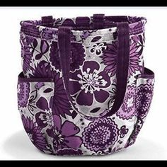 NEW Thirty One Retro Metro Bag Plum Awesome Never carried.  Great tote!!! Plot is plum awesome blossom Thirty One Bags Totes
