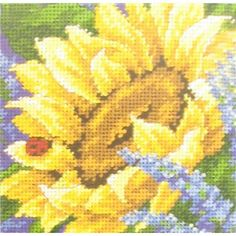 Dimensions Sunflower & Ladybug Counted Cross Stitch Kit | Shop Hobby Lobby