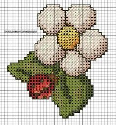 The Four Seasons Thun Spring free cross stitch pattern - free cross stitch patterns simple unique alphabets baby Counted Cross Stitch Patterns, Cross Stitch Charts, Cross Stitch Designs, Cross Stitch Gallery, Cross Stitch Flowers, Christmas Cross, Yarn Crafts, Four Seasons, Embroidery Stitches