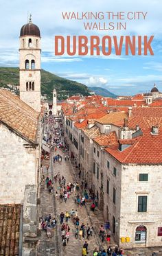 Climbing the city walls in Dubrovnik, Croatia, with fortresses, ports and views across the coast