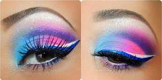Pretty lil rave girl makeup