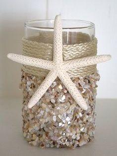 Natural Seashell Coastal Candleholder - Small Beach Decor | Nautical Decor | Tropical Decor | Coastal Decor
