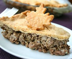 Classic, hearty French Canadian tourtiere (pork pie). #Canada #pie #tourtiere #French #Quebec #food #dinner #maple_leaf***don't eat pork,I'll try this recipe using lamb
