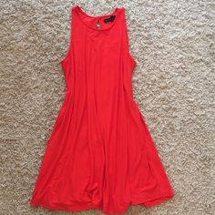 Red Suede Dress Very elegant and So soft suede material! Just a LOVE NOT ZARA BRANDoffers accepted Zara Dresses Midi