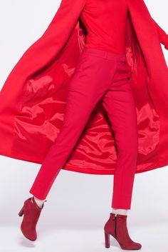 #furelle #look #fashion #redautumn #redtrousers #redwaistcoat #