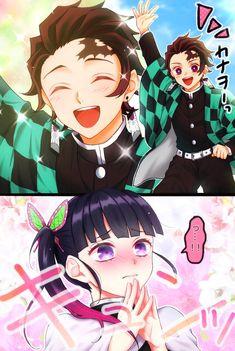 Read Kimetsu No Yaiba / Demon slayer full Manga chapters in English online! Manga Anime, Anime Couples Manga, Anime Demon, Hot Anime, Anime Girls, Demon Slayer, Slayer Anime, Anime Love Couple, Demon Hunter