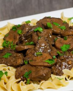 Slow Cooker Beef Stroganoff This is one great tasting slow cooker recipe, beef is so tender.