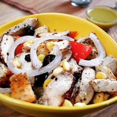 Smoked Chicken Salad with Croutons & French Dressing