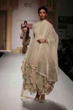 Peplum, layers and drapes at Shantanu & Nikhil - Wills Lifestyle India Fashion Week