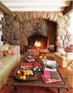 1928 Libby Ranch in Ojai, CA.  Another view of that great stone fireplace!