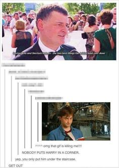 I think you're forgetting something<--As much as I love Moffat i wouldnt let him near Harry Potter...the death toll will be too much
