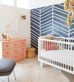 9 Tips for Designing a Nursery// color, texture, metallics, animal prints, coral, navy, gold