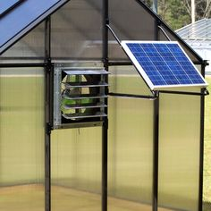 Monticello Solar Powered Ventilation System, Silver
