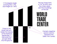 New WTC Logo. Lots of symbolism. World Trade Center, logo, One WTC, 1WTC, Ground Zero, National September 11 Memorial, Twin Towers