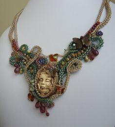 Madame Butterfly Necklace by J. Piotrowski of BeadedDreams8