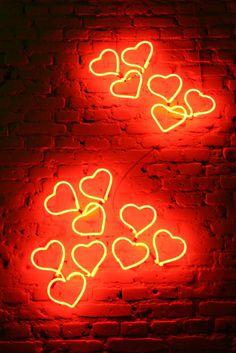 neon hearts #neon #decor