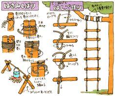 巻き結びと縄ばしご