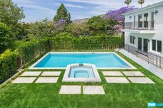 Josh Altman's Million Dollar Listing includes a spa pool, hot tub, and lush landscaping gives owners first-class luxury right in their own backyard.